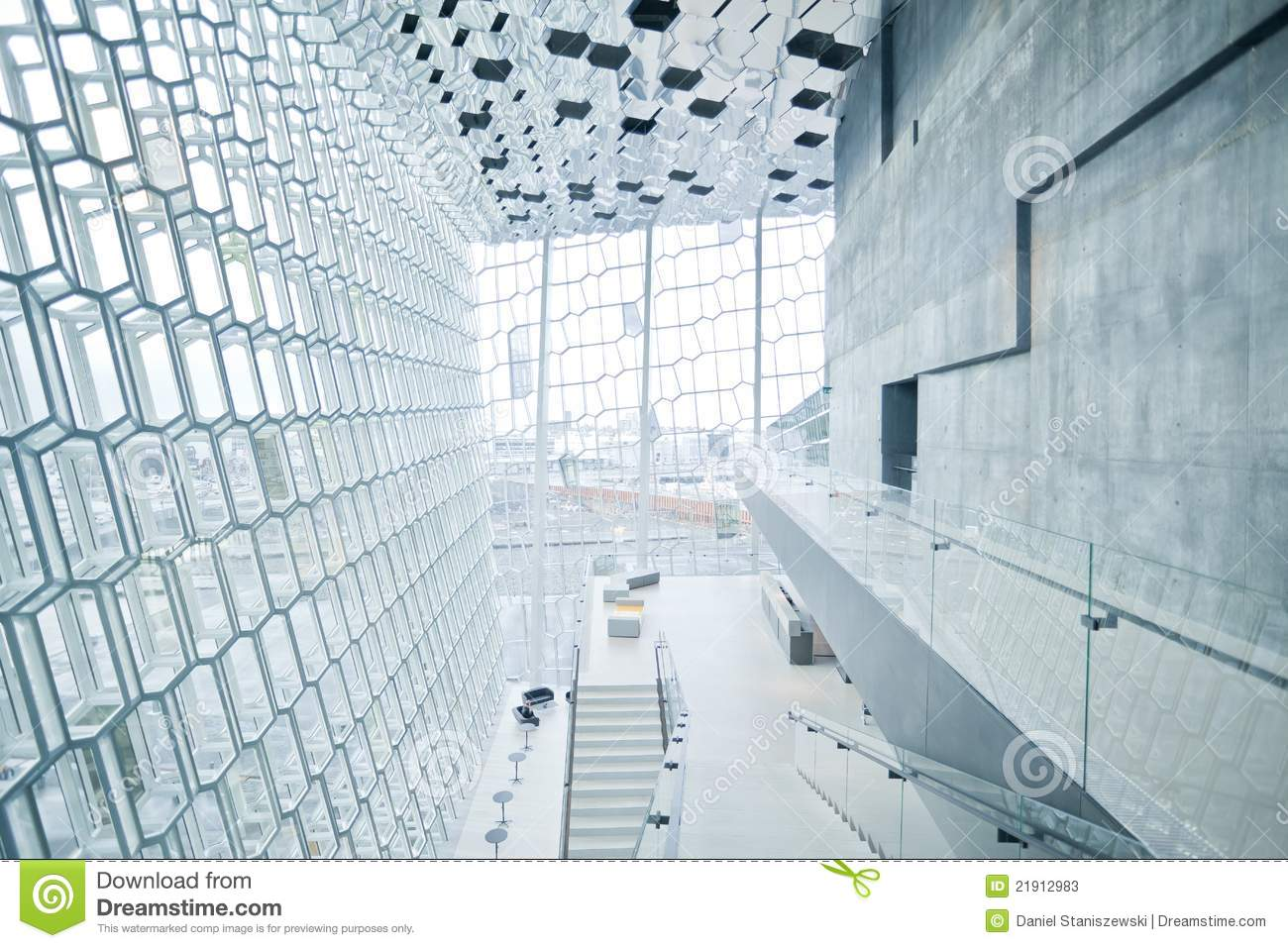 Harpa Concert Hall In Reykjavik Iceland Stock Photos