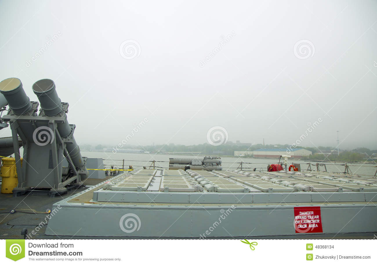 Harpoon Cruise Missile Launchers And 90-cell Vertical