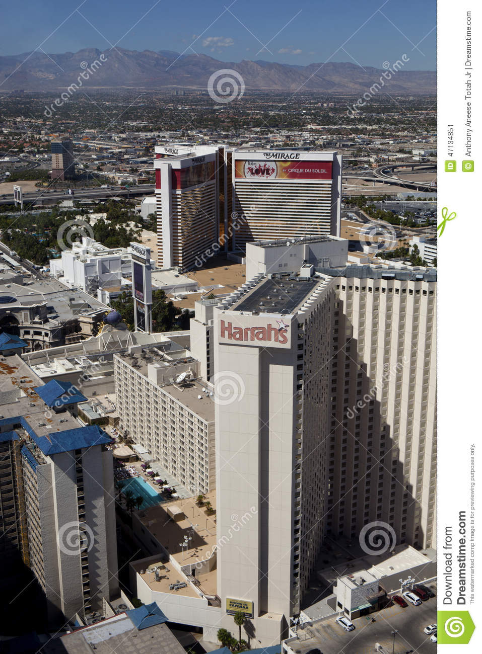Harrahs And Mirage Hotels And Casinos In Las Vegas Nevada - Map las vegas hotels near mirage