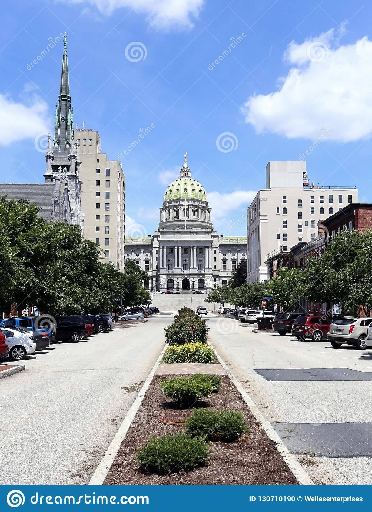 Harrisburg Pennsylvania editorial image  Image of downtown