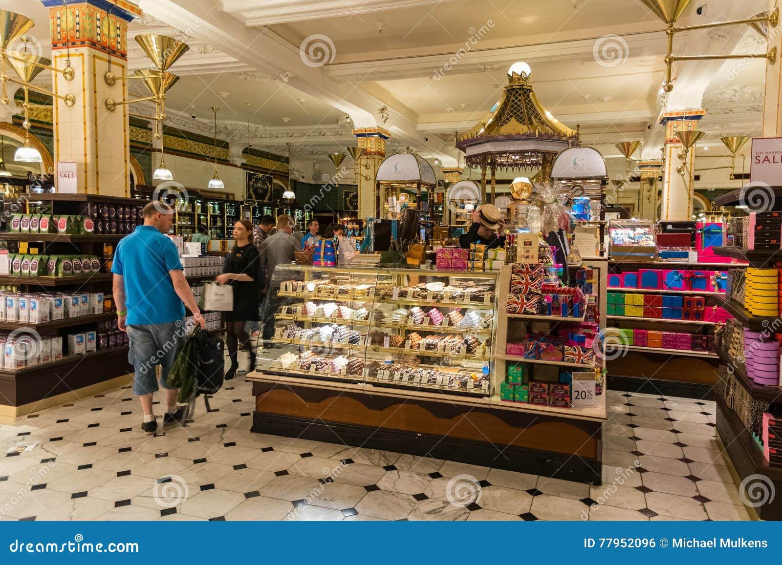 Harrods-Kaufhausinnenraum In London Redaktionelles Foto - Bild von ...