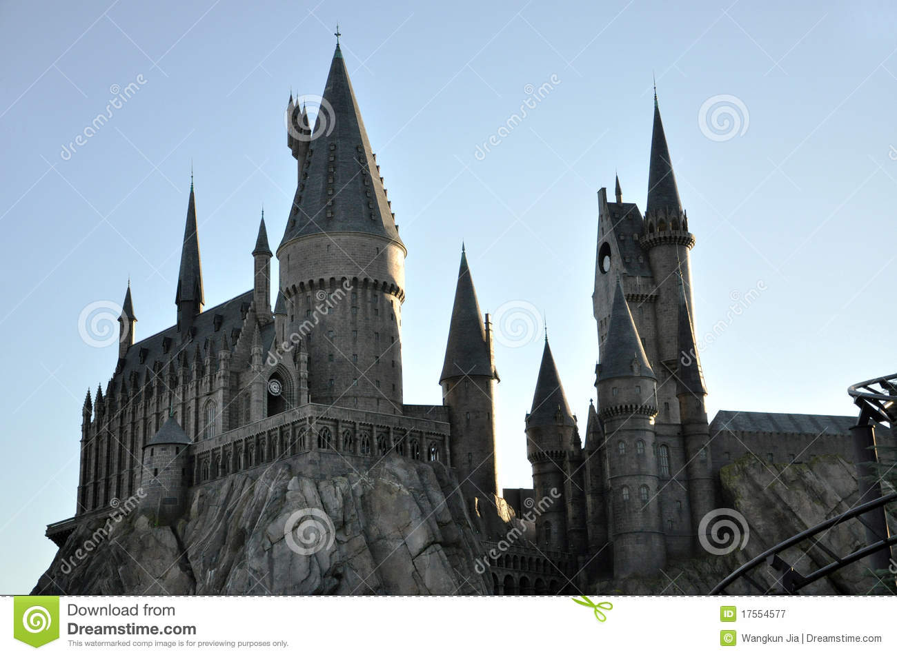 Harry Potter Castle In Universal Orlando Editorial