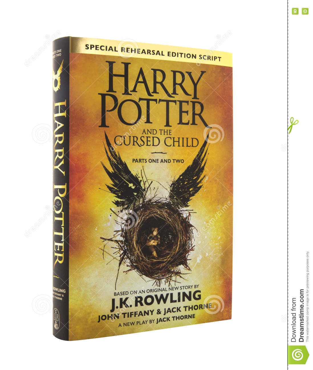 Book Cover Cursed Child ~ Harry potter and the cursed child editorial stock image