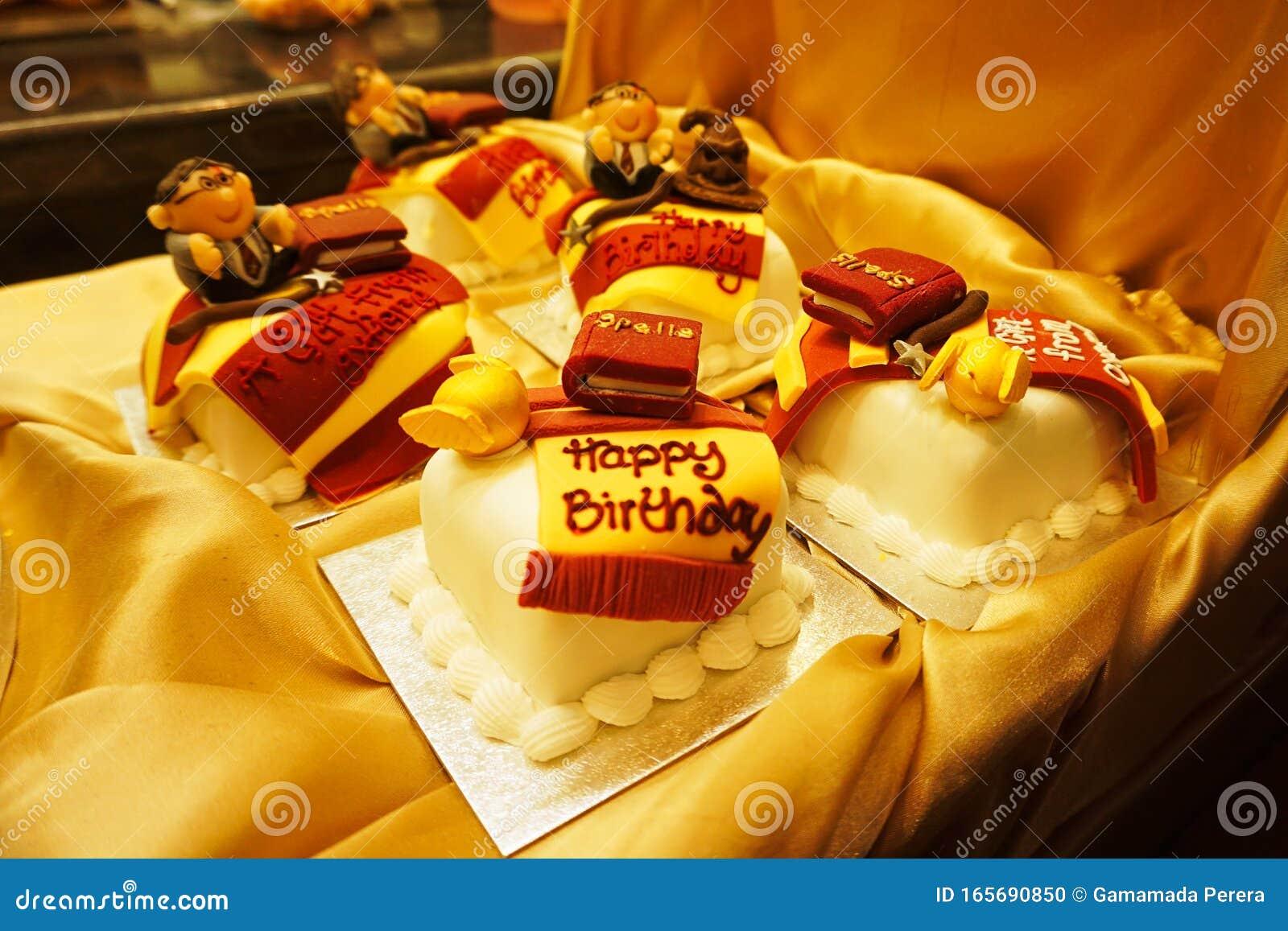 Peachy Harry Potter Wizards Happy Birthday Mini Cakes Editorial Image Funny Birthday Cards Online Inifofree Goldxyz