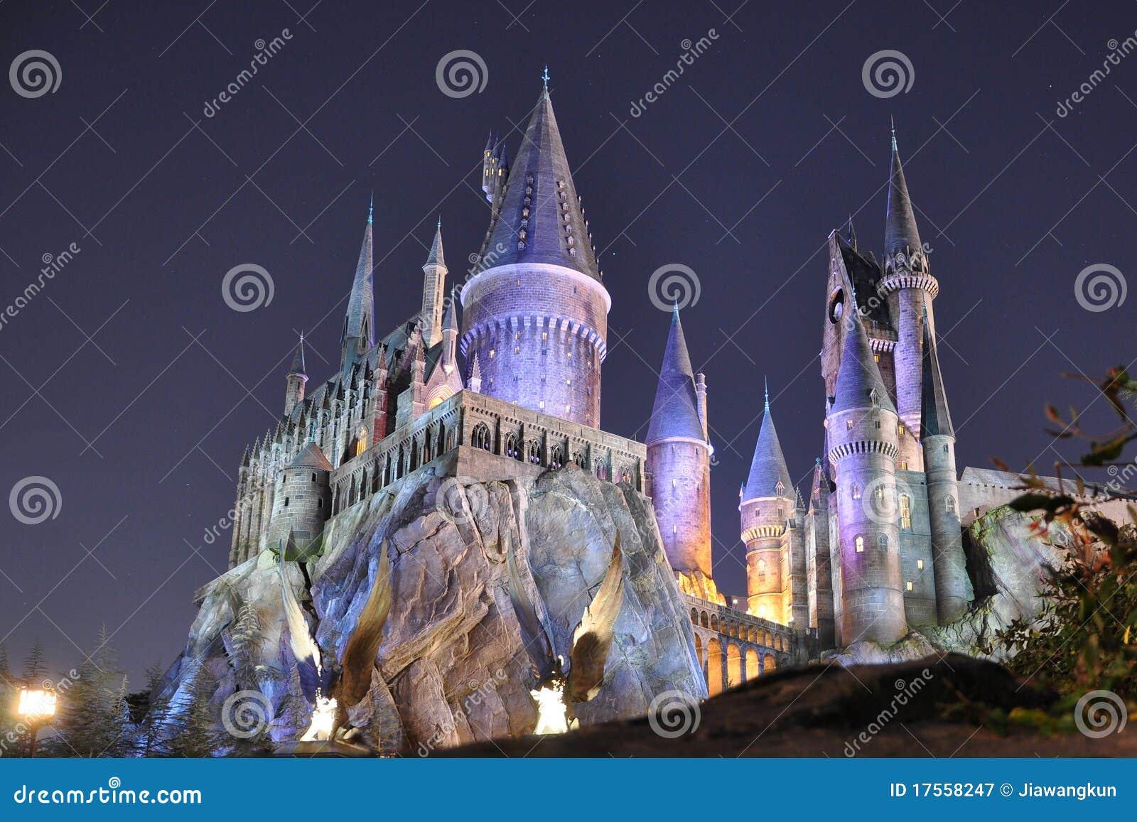 Harry- Potterschloß in Universalorlando nachts
