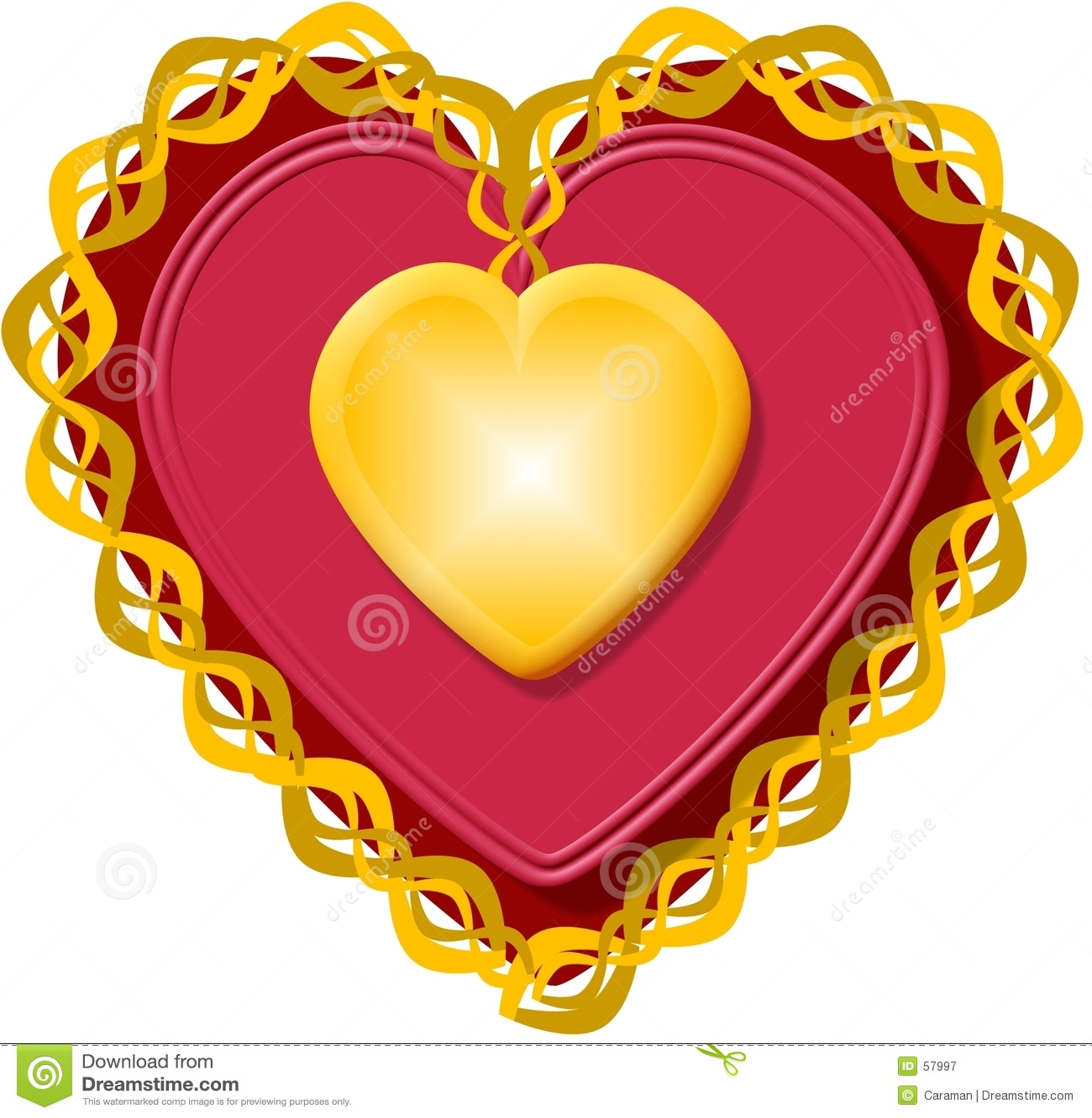 Hart 3 van de valentijnskaart