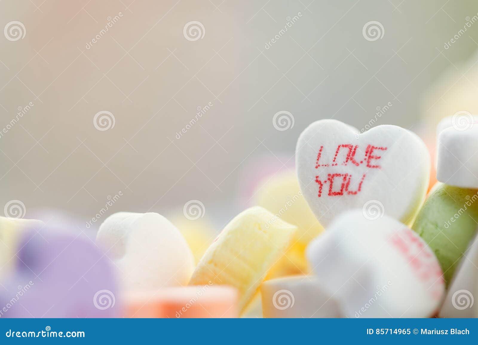 Hart gevormd suikergoed