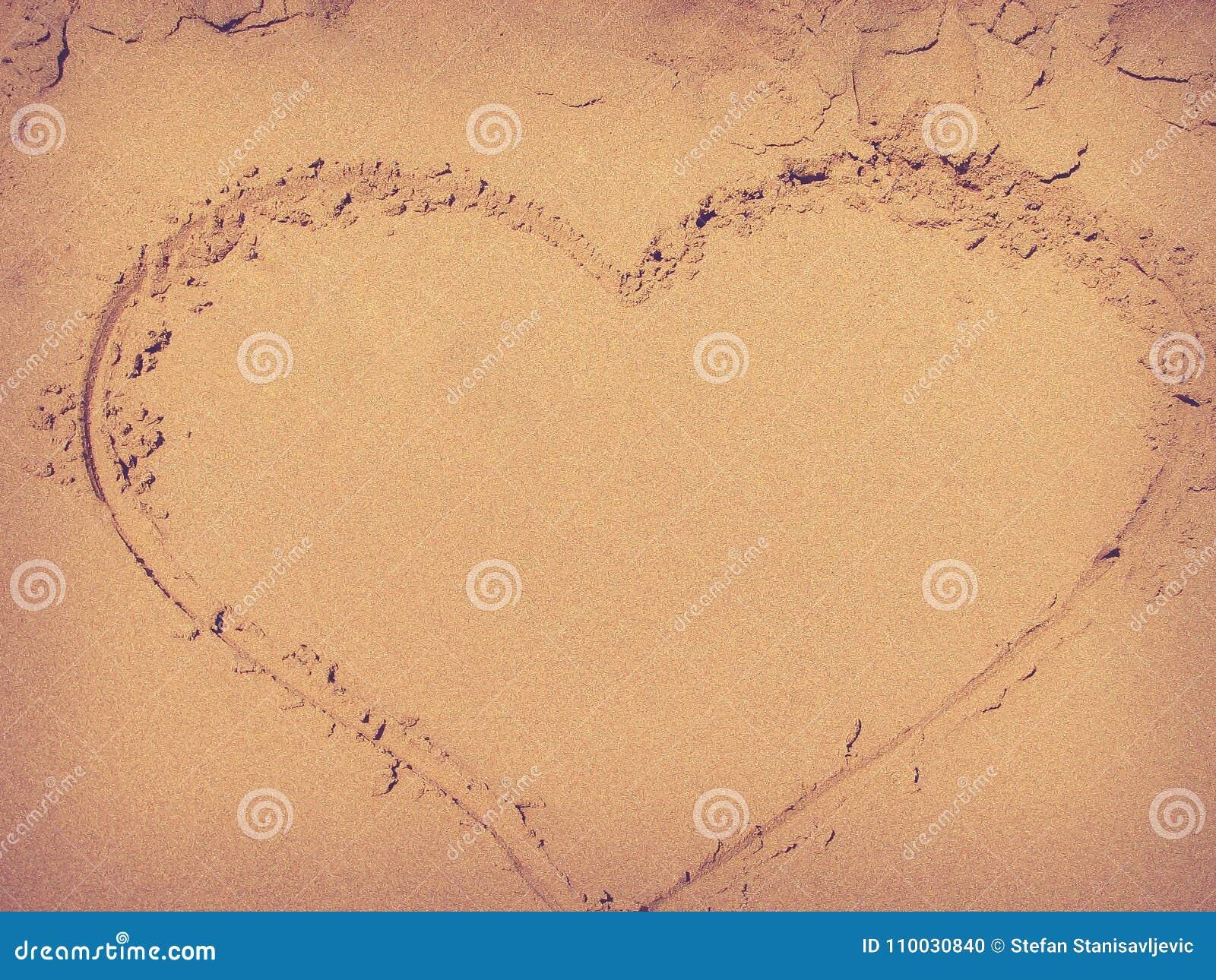 Hart in het zand