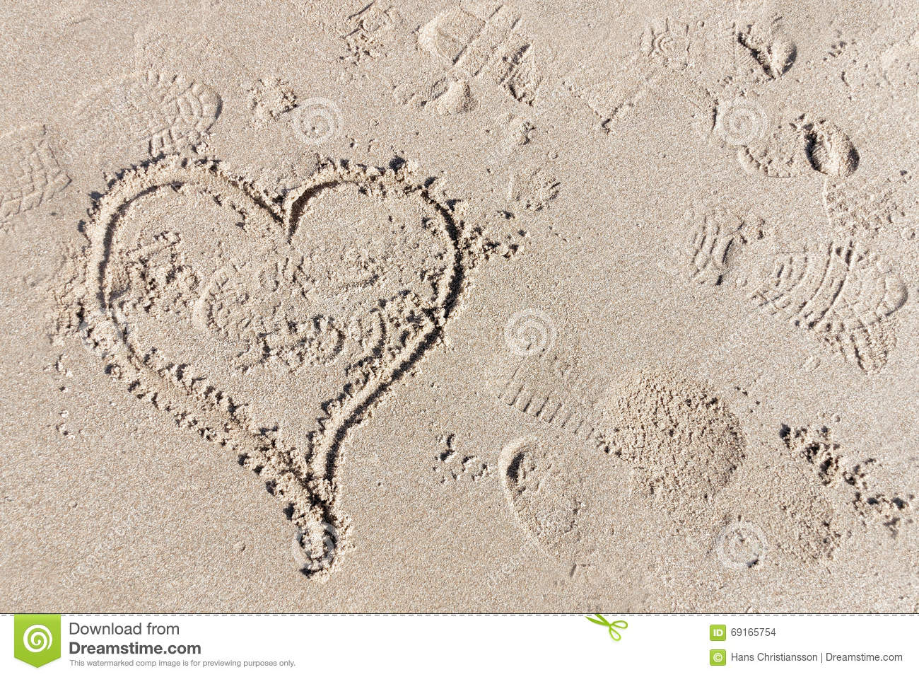 Hart in the sand the symbol for love stock photo image of foot hart in the sand the symbol for love biocorpaavc Gallery