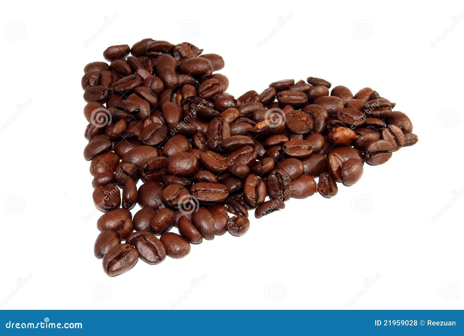 Hart van de koffiebonen