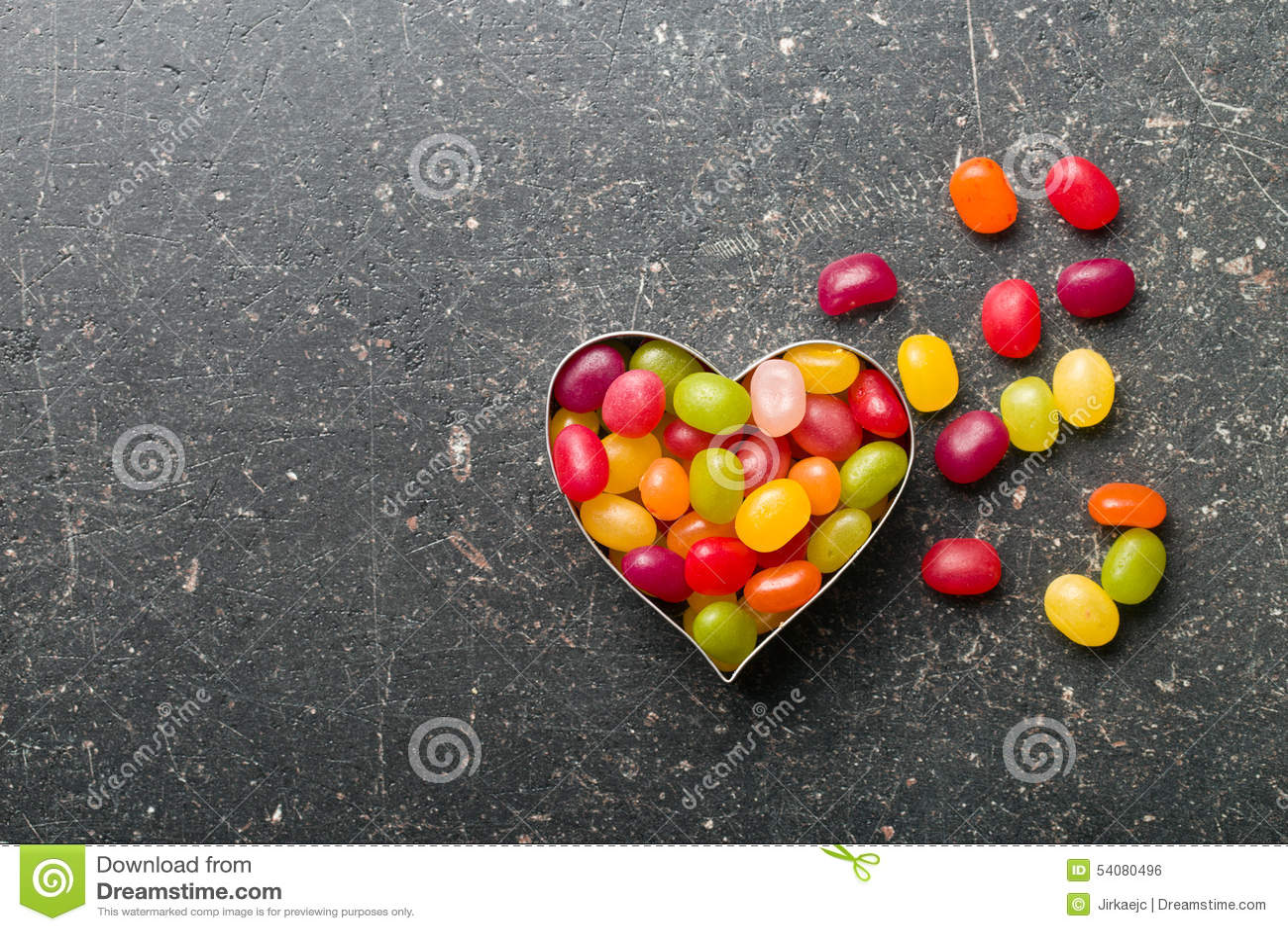 Hart van geleibonen die wordt gemaakt