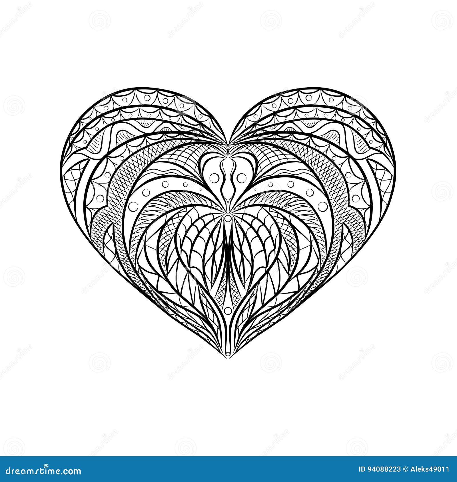 hart mandala vector illustratie illustratie bestaande