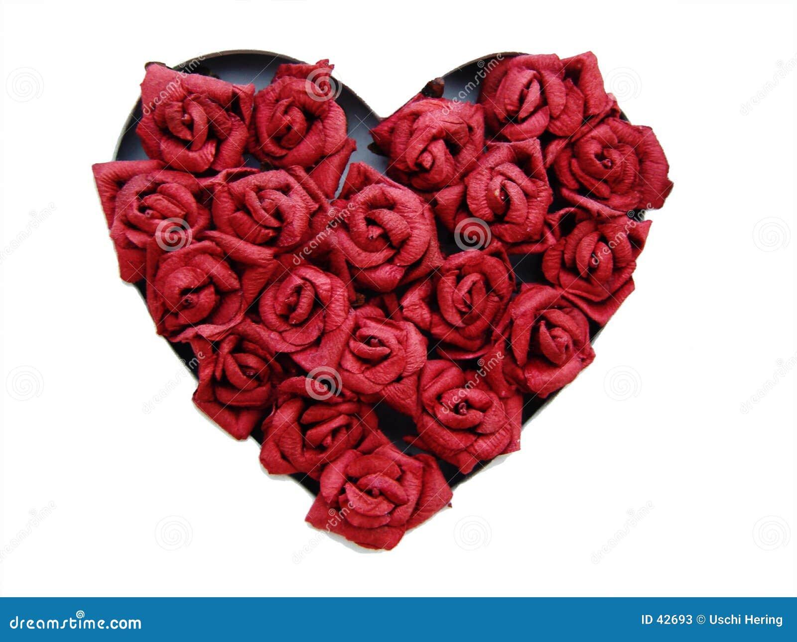 Hart van rozen