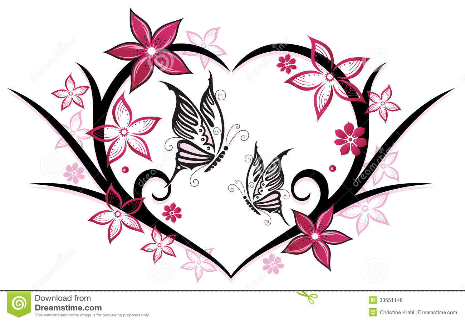 hart vlinders bloemen royalty vrije stock foto 39 s. Black Bedroom Furniture Sets. Home Design Ideas