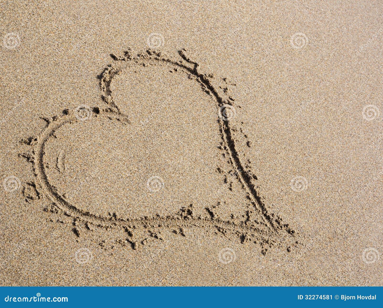 Hart in zand