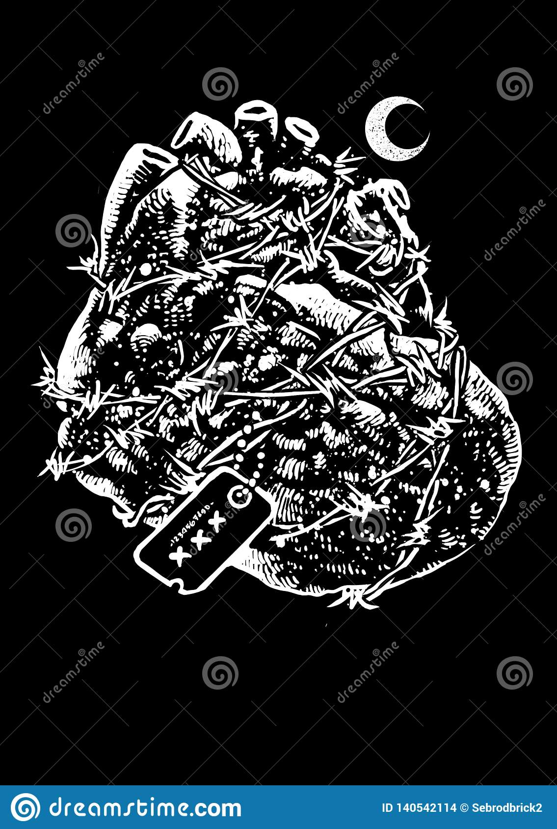 Harthelden Vectorart illustration