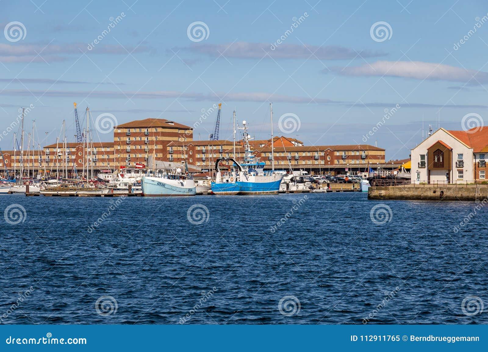 Hartlepool marina, UK