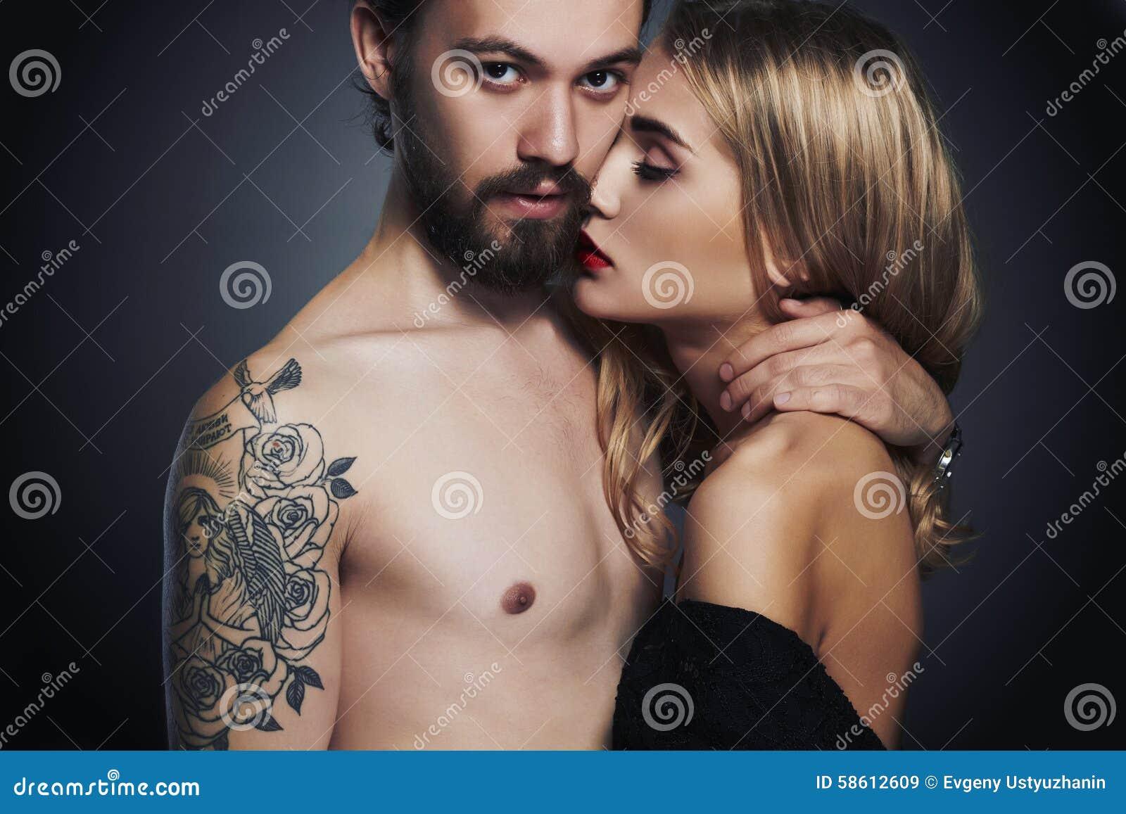 Sexy meisje en jongen