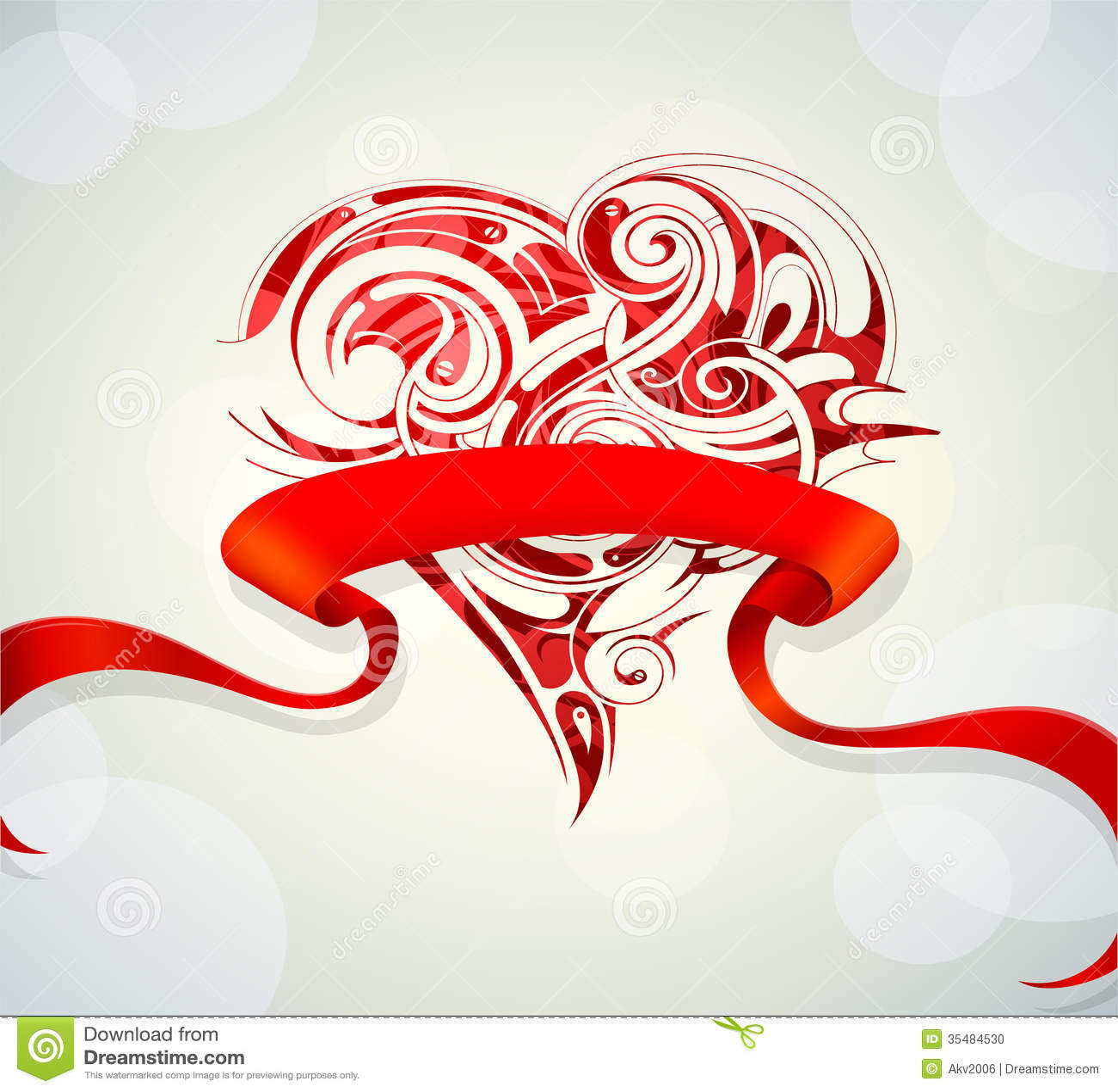 Hartvorm op huwelijkskaart