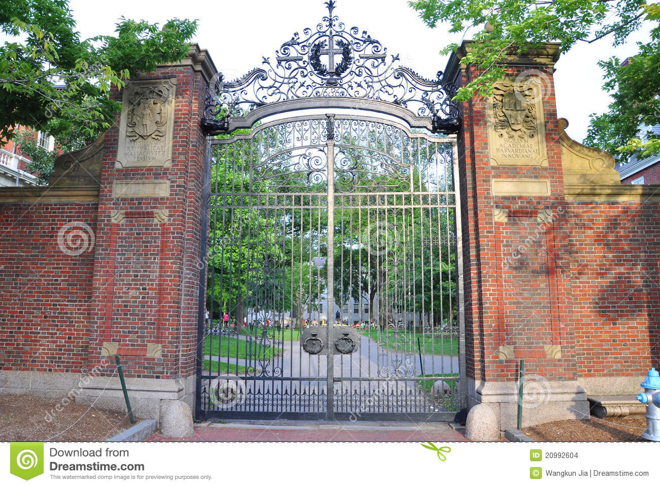 Harvard University Gate, Boston Stock Images - Image: 20992604