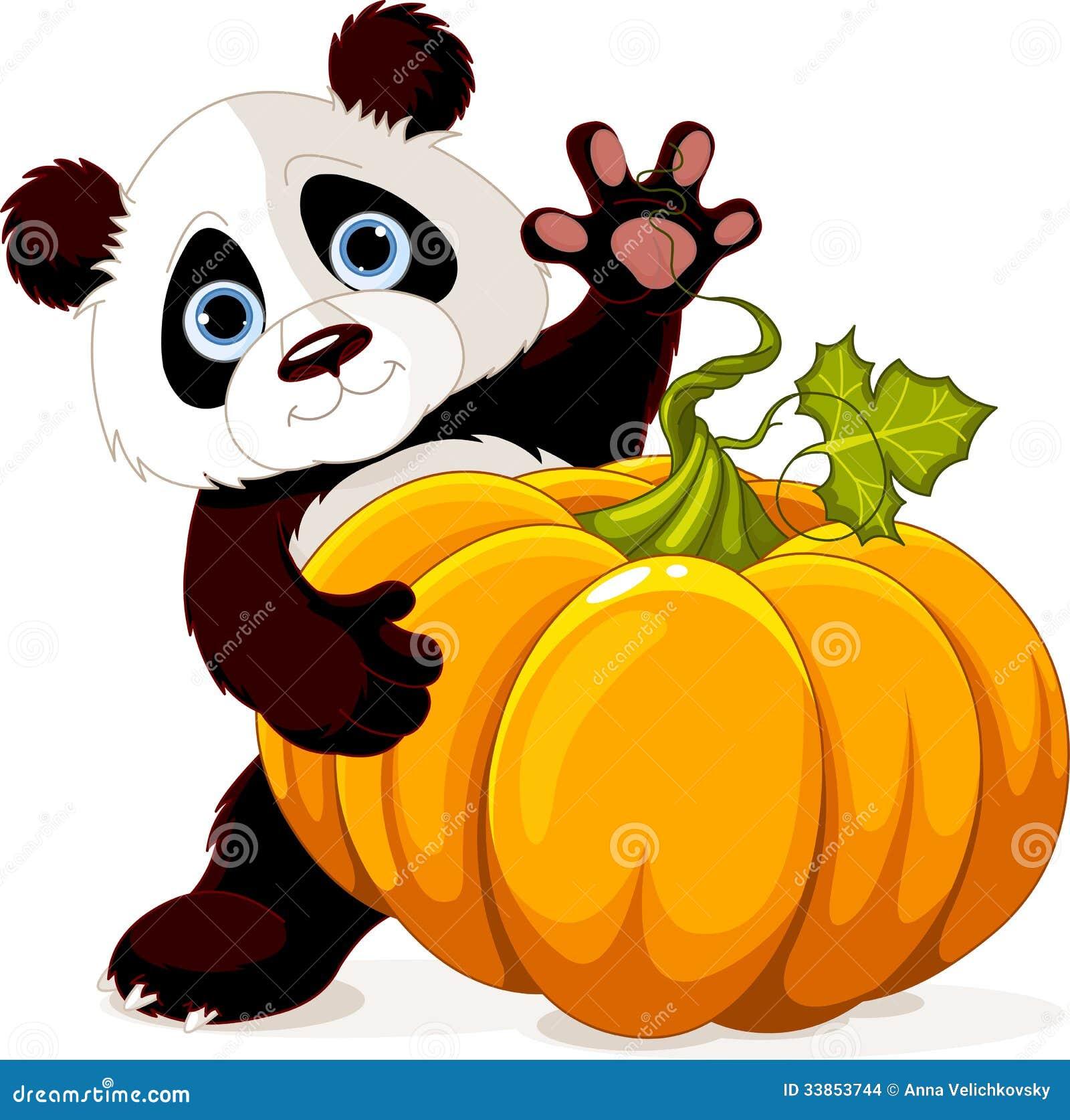 Harvest Panda Stock Vector Illustration Of Celebration