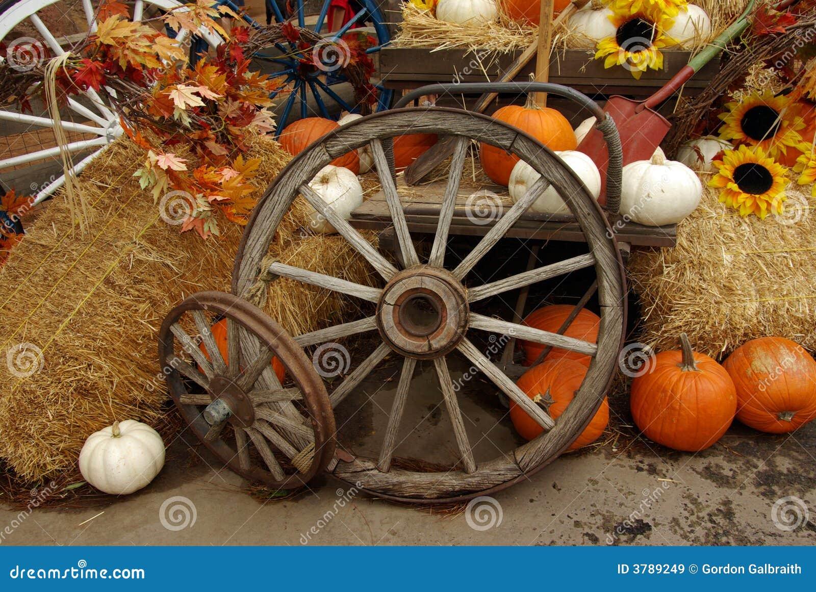 Harvest Scene Stock Image Image Of Vintage Fall Wagon 3789249