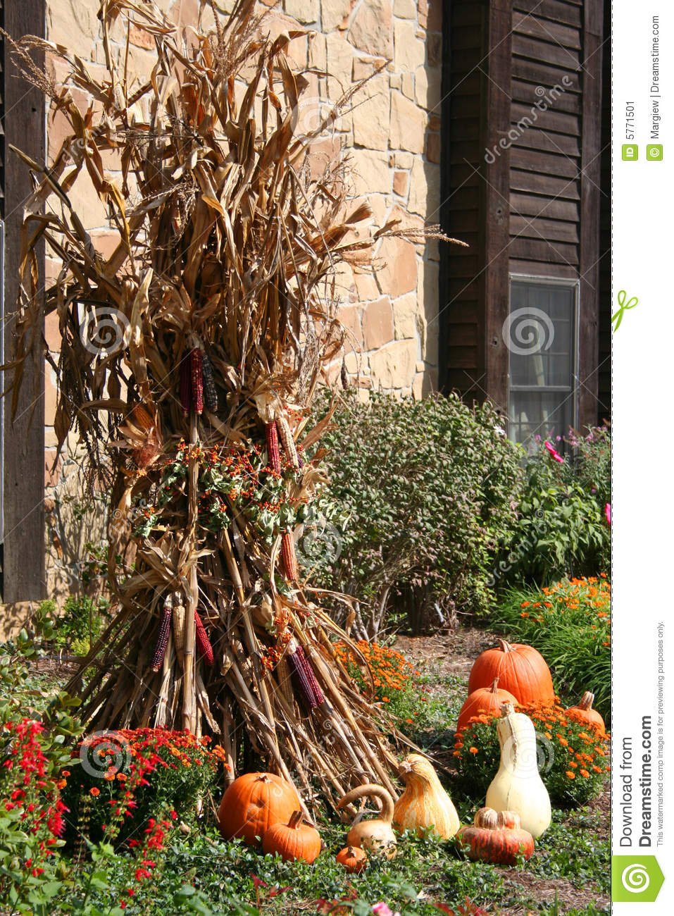 Harvest Yard Decor Stock Image Image 5771501