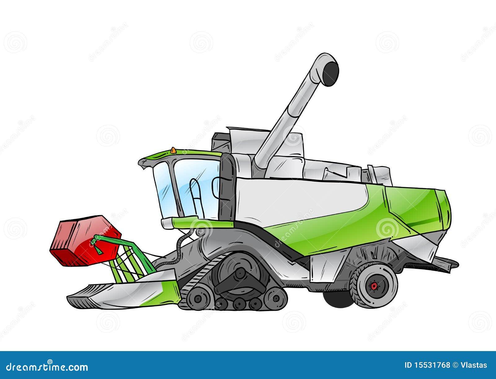 Tractor Cartoon Picker : Harvester royalty free stock photos image