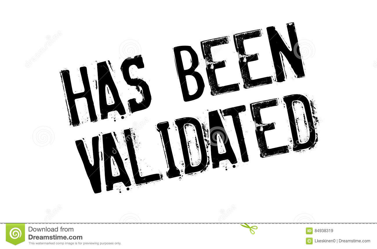 Has Been Validated Rubber Stamp