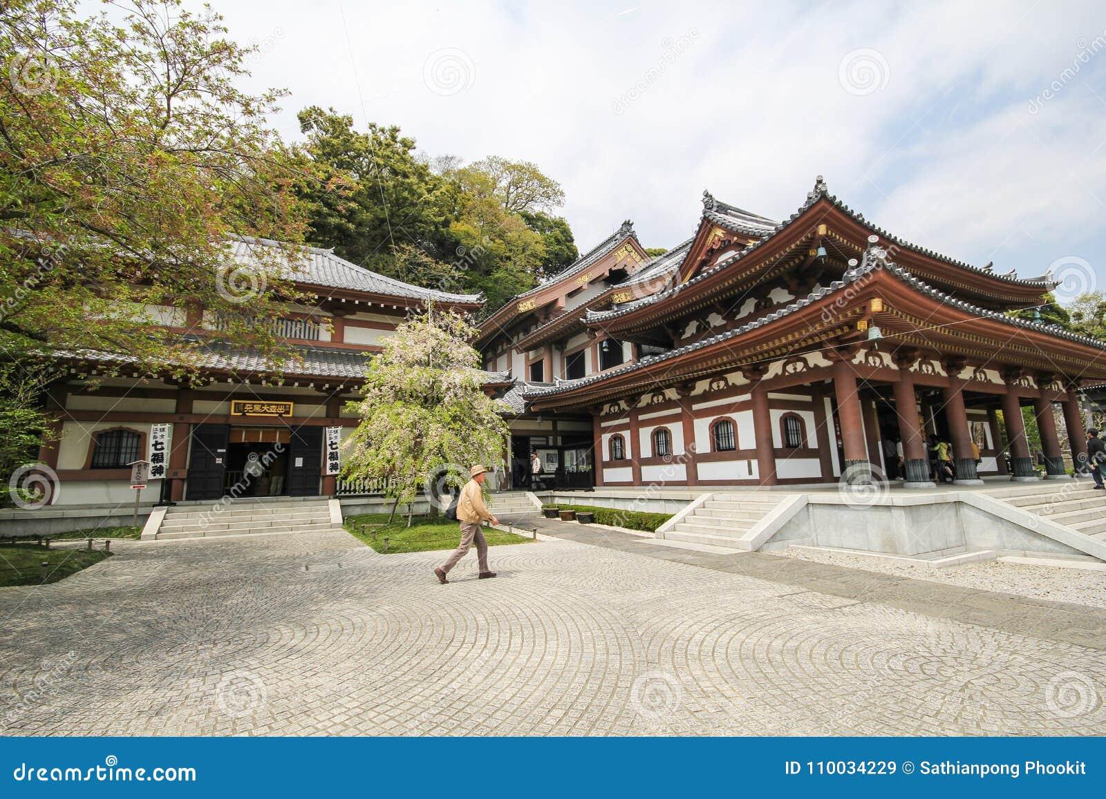 Hasederatempel, de beroemde tempel in de stad van Kamakura, Japan
