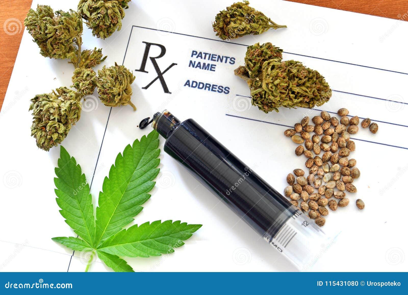 Hash oil with medical cannabis, cannabis seeds and prescription