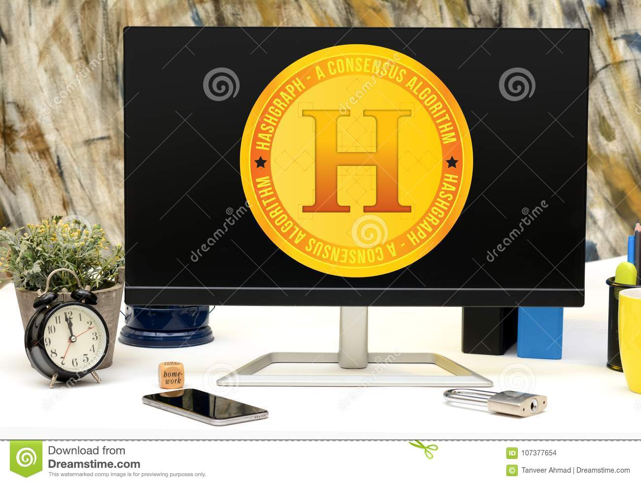 Hashgraph A New Cryptocurrency To Be Launched Soon Stock Photo