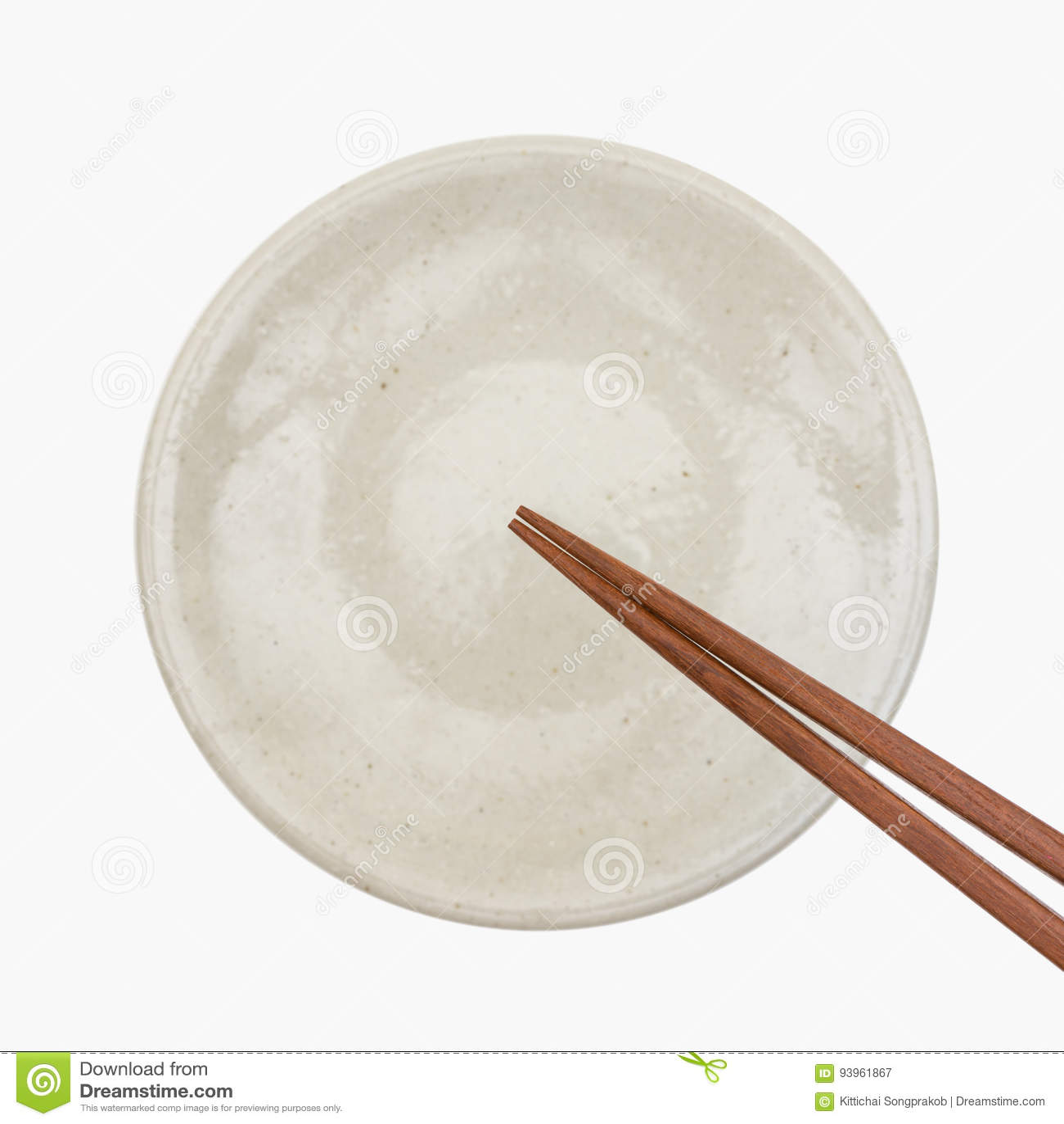Hashi de madeira japonês tradicional na placa cerâmica branca
