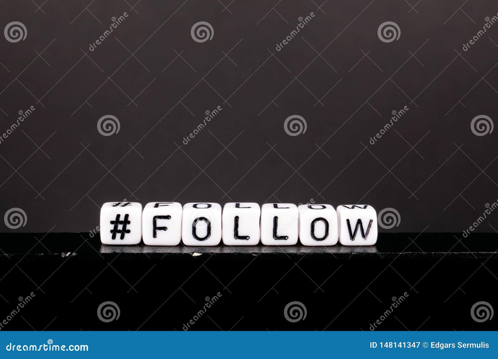 Hashtag avec le mot suivent