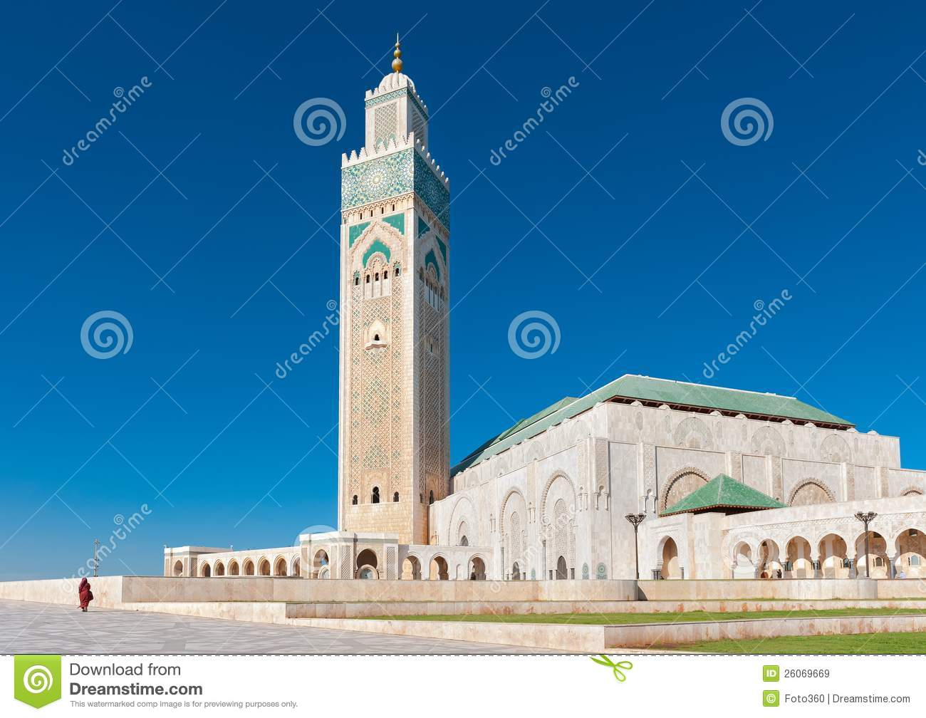 Download Hassan II Mosque Casablanca Morocco Side View Stock Image - Image of green, mosaic: 26069669