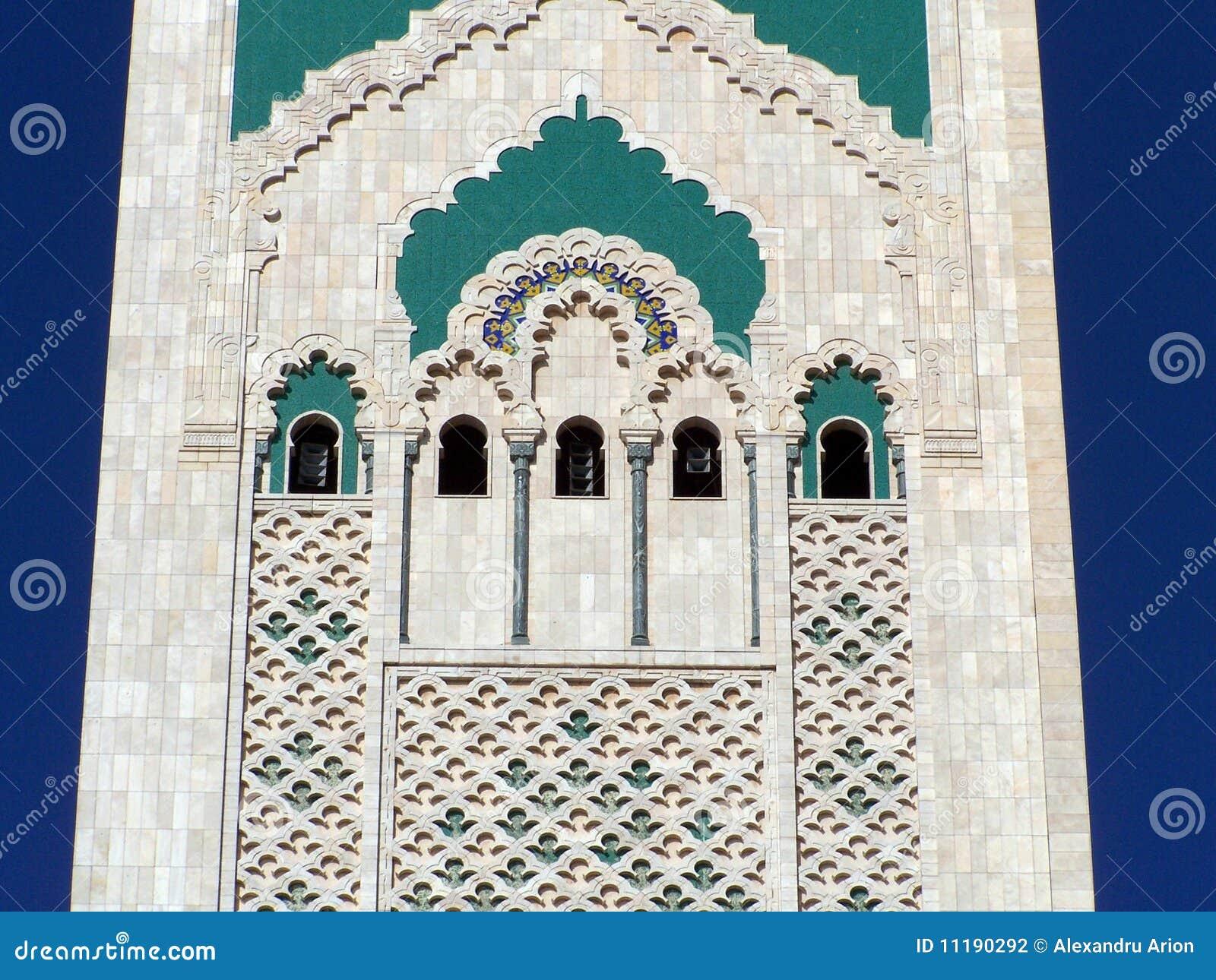Mosque Detail: Hassan II Mosque Detail (2), Casablanca, Morocco Stock