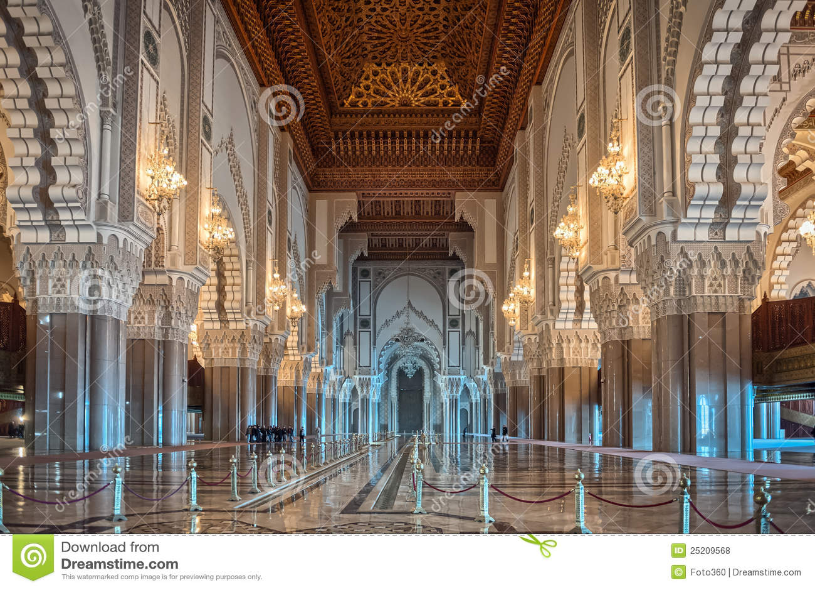 Hassan Mosque interior corridor Casablanca Moroco