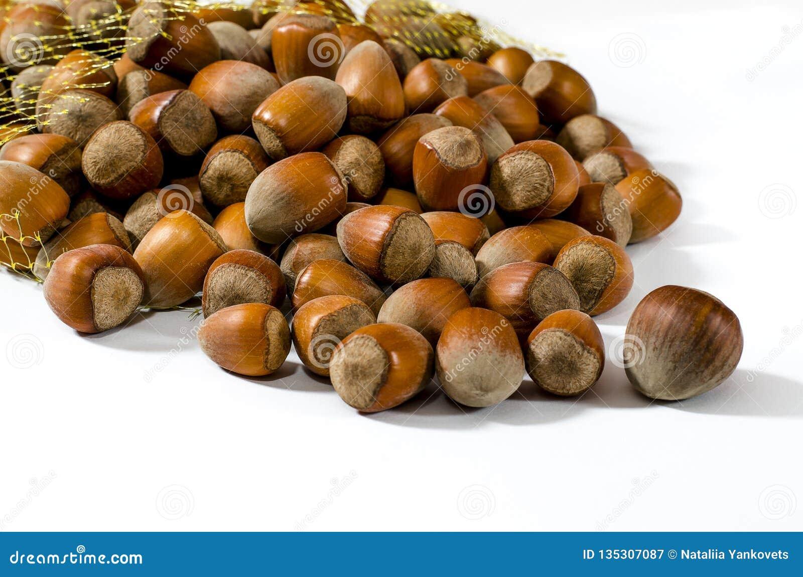 Hasselnötter Matbakgrund, fototapet Muttermakro