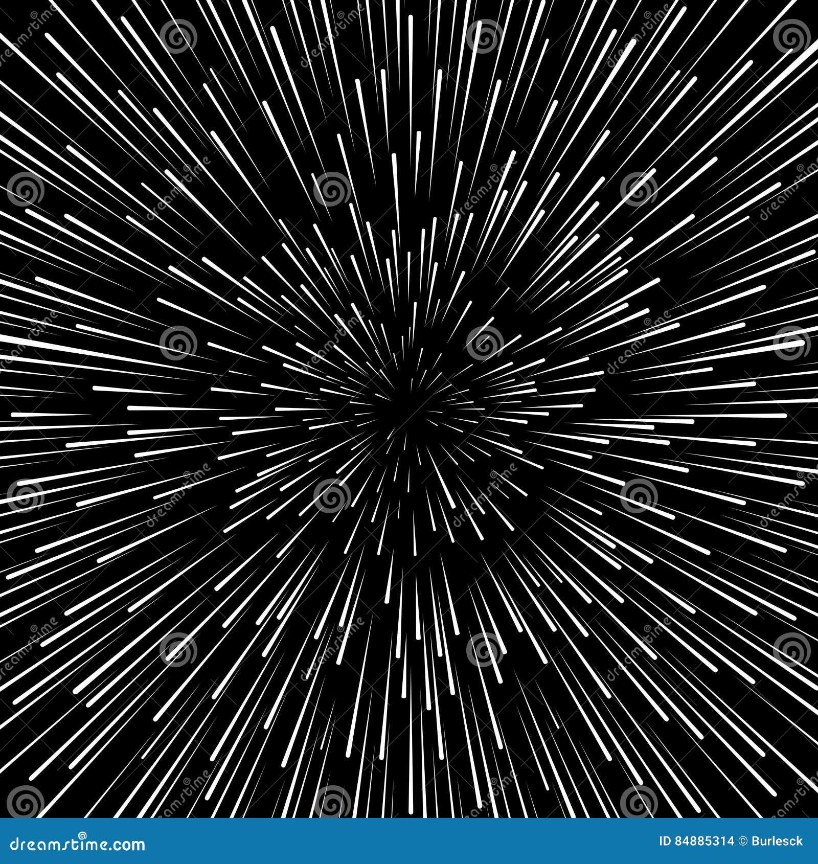 Hastighet snedvrider vektorbakgrund För stjärnakrig för element hyperspace effekt för zoom