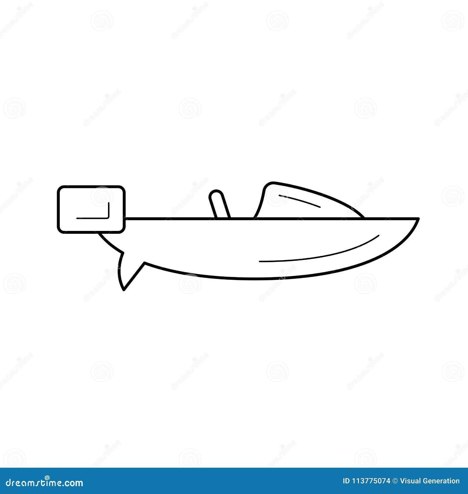 Hastighetsfartyglinje symbol