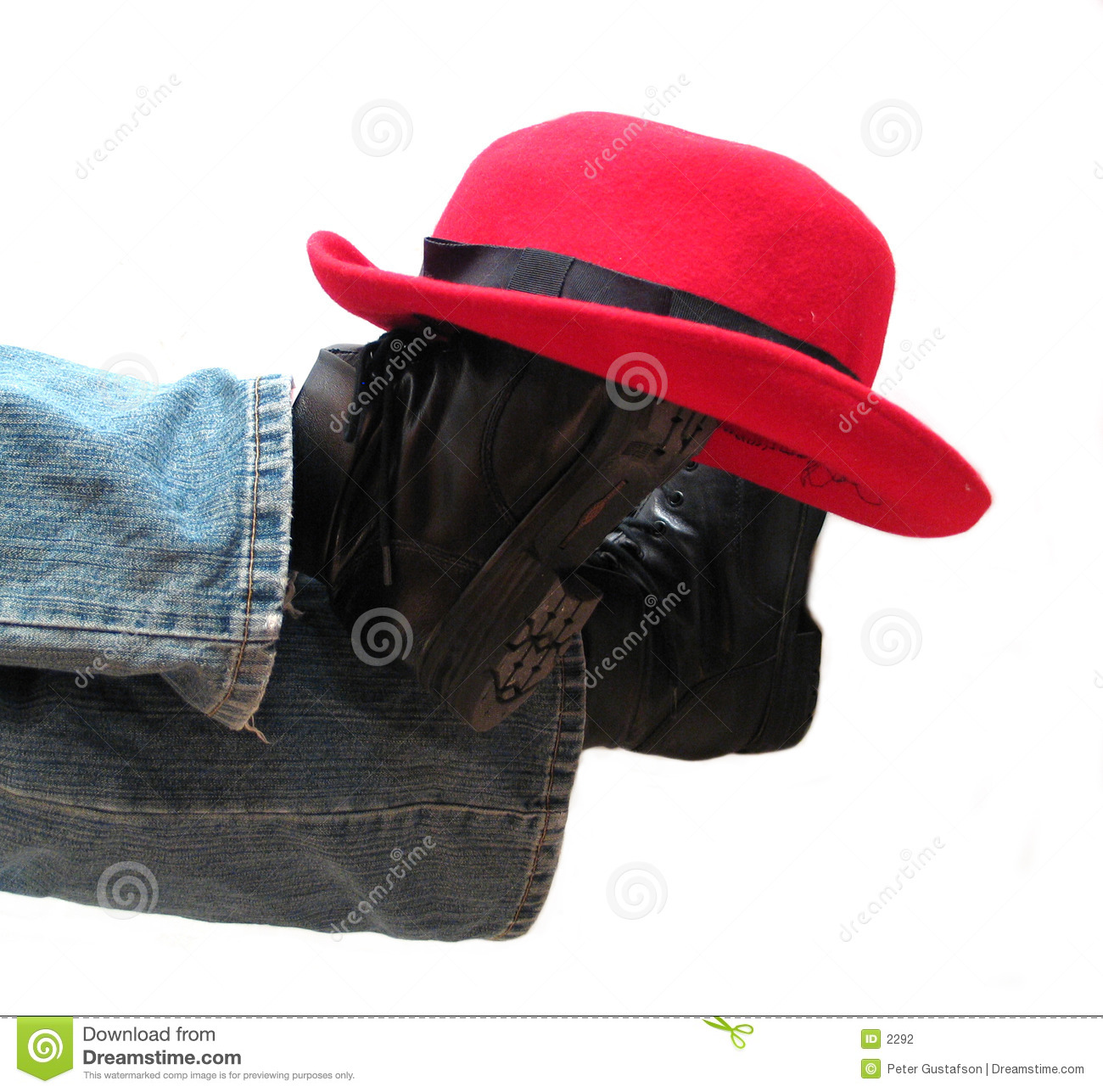 Hat on boots