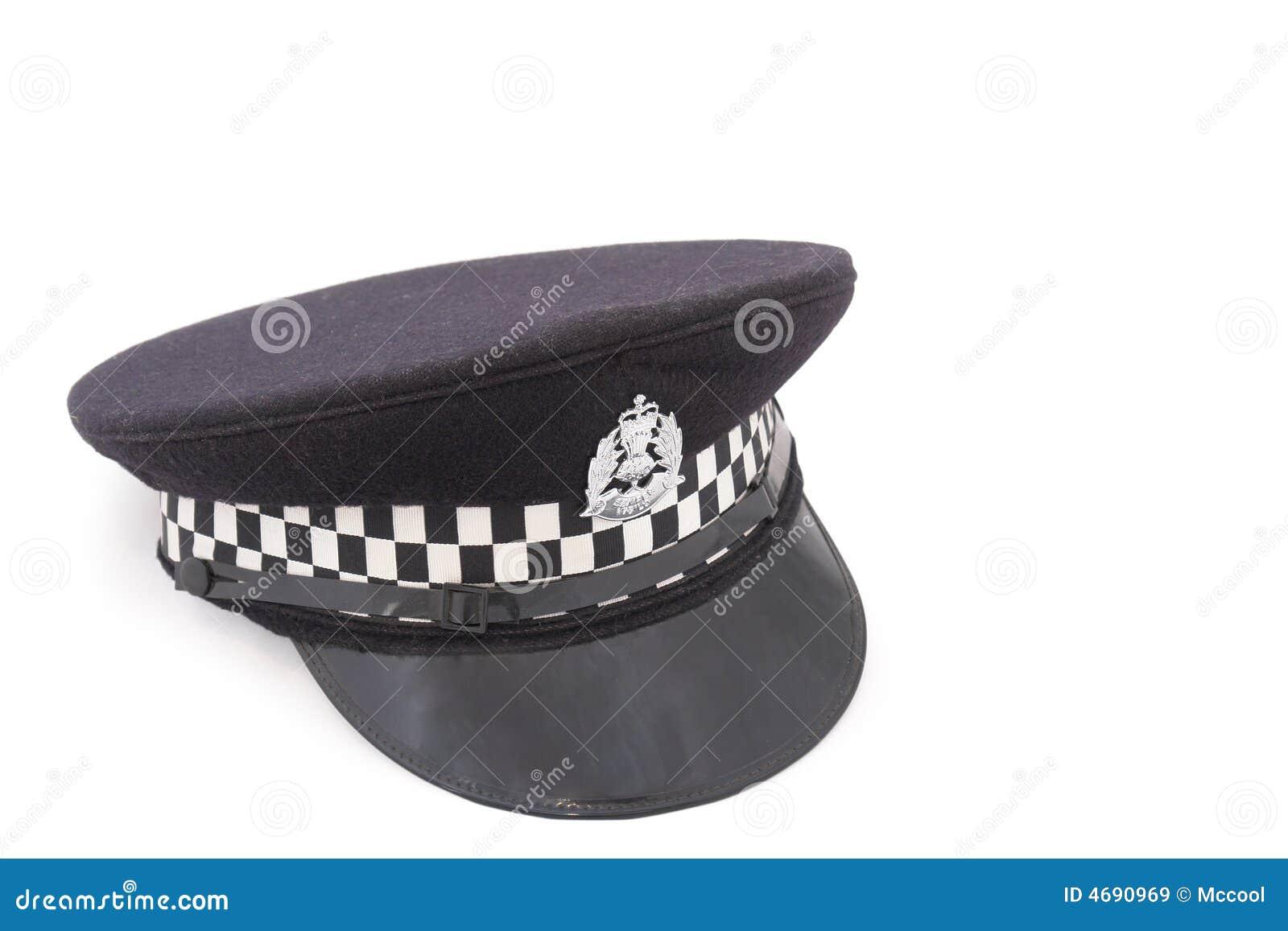 Hat of British police officer