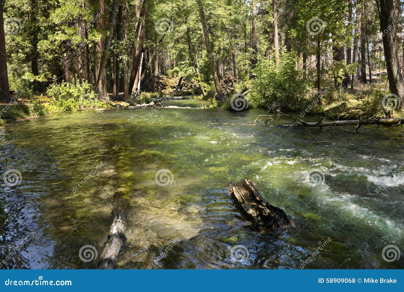 Hat creek in lassen national park california stock photo for Hat creek fishing