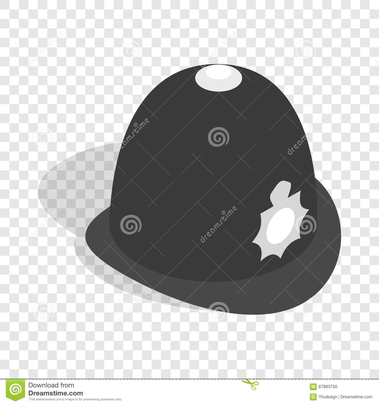 772f8eb4e6d Hat english police isometric icon 3d on a transparent background vector  illustration