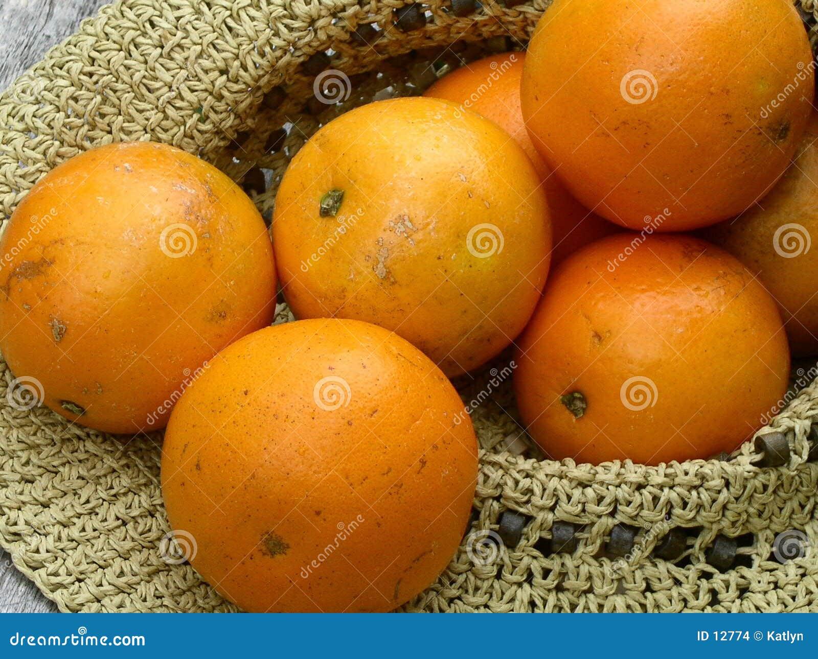 Hat full of oranges