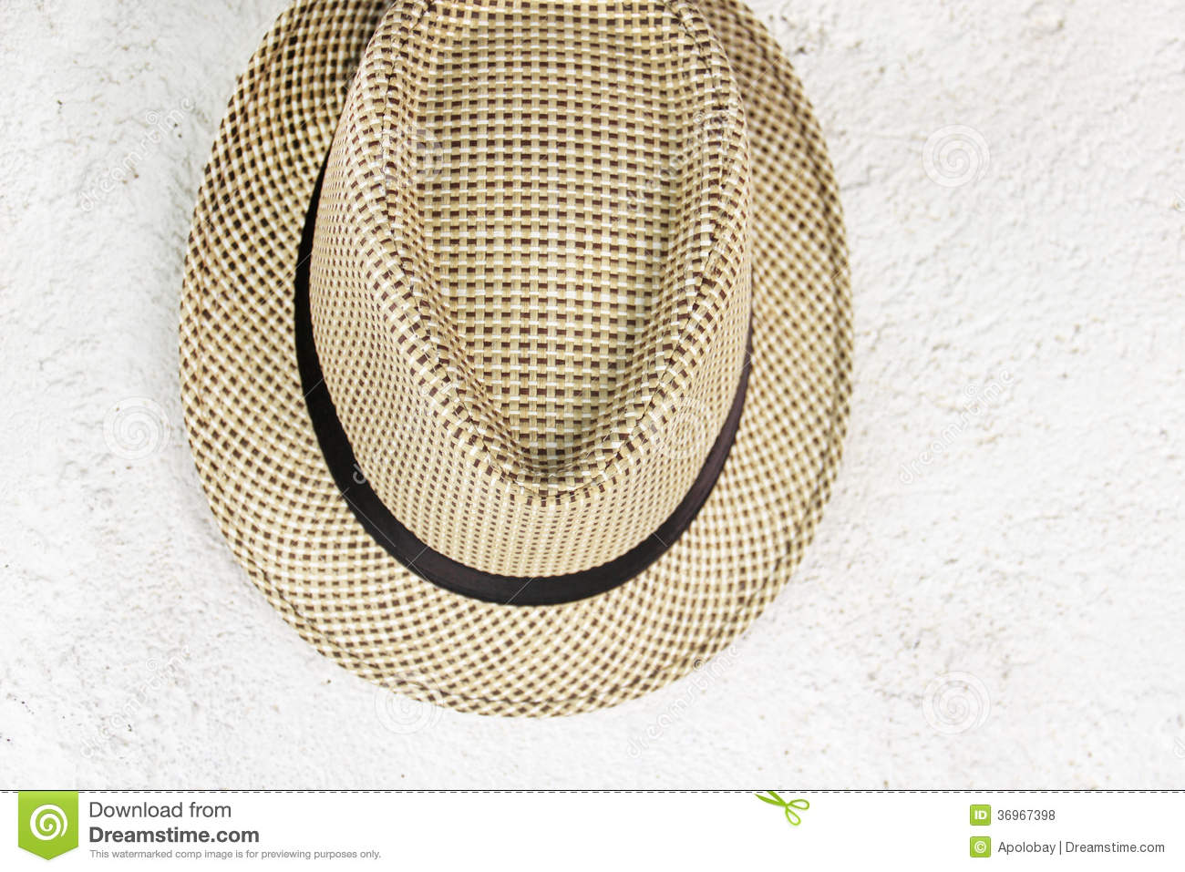 Hat Hanging On An Old Wall Stock Photo Image Of