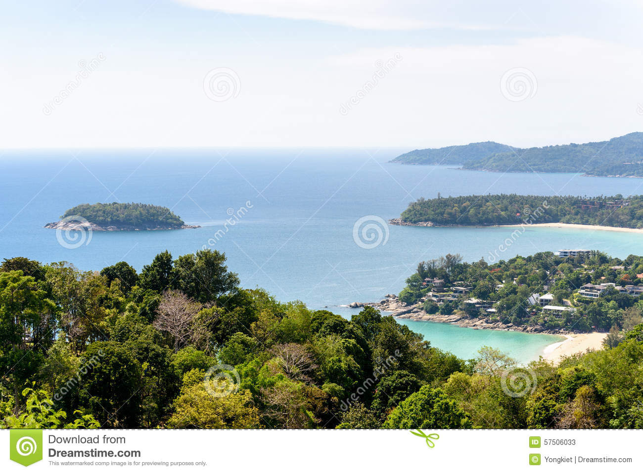 Hat Kata Karon Viewpoint In Phuket Island Stock Photo ...