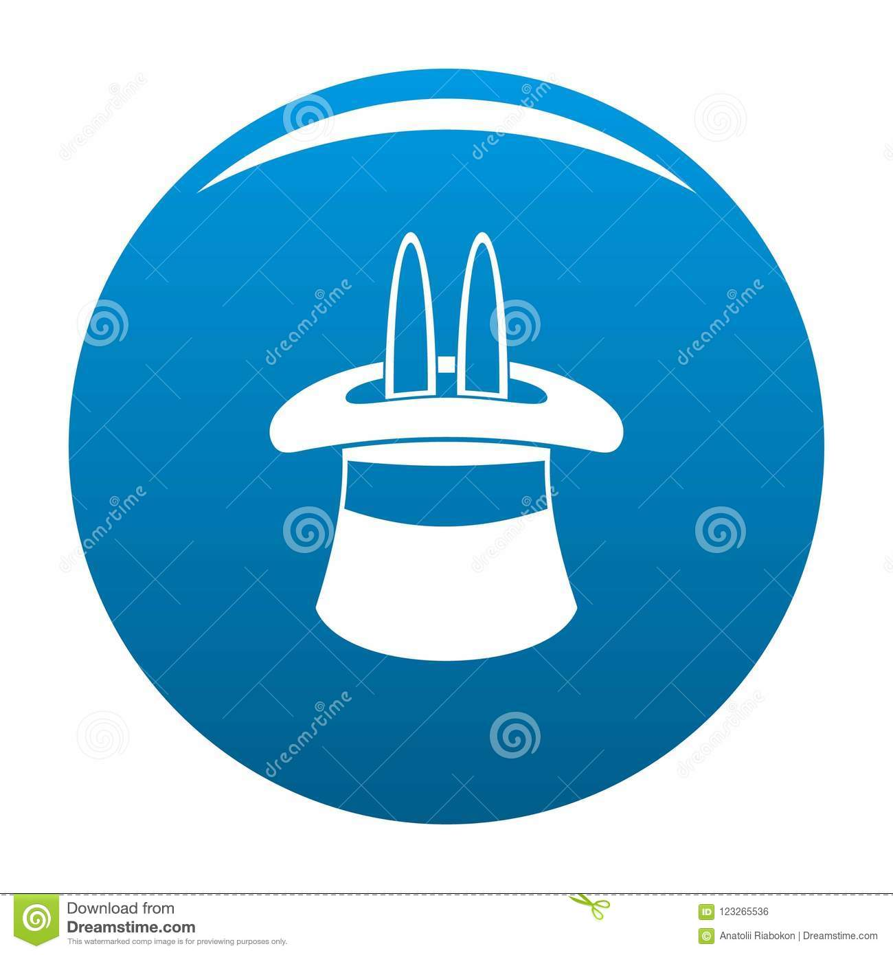 Hat With A Rabbit Ear Icon Blue Stock Illustration - Illustration of ... f4c51c0b9275