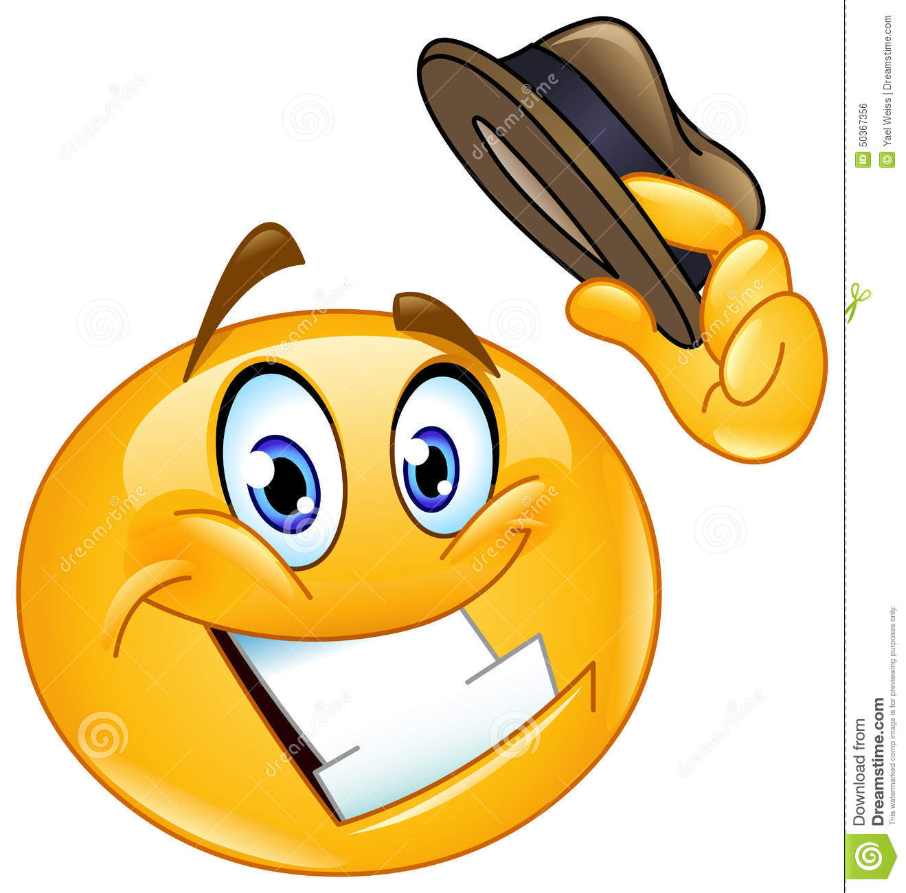 Hat Tip Emoticon Stock Vector - Image: 50367356