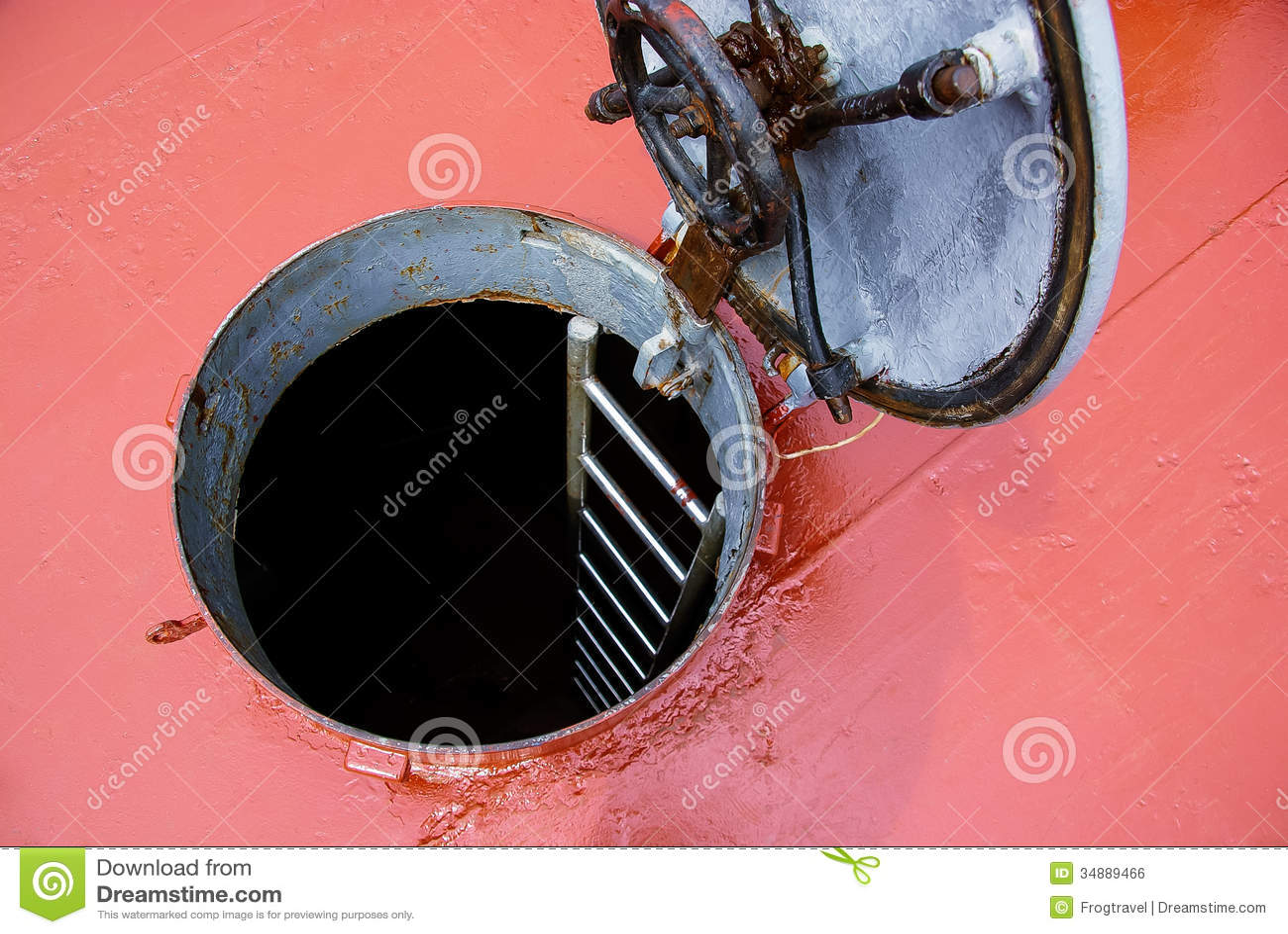 Hatch Door On Deck Royalty Free Stock Image Image 34889466